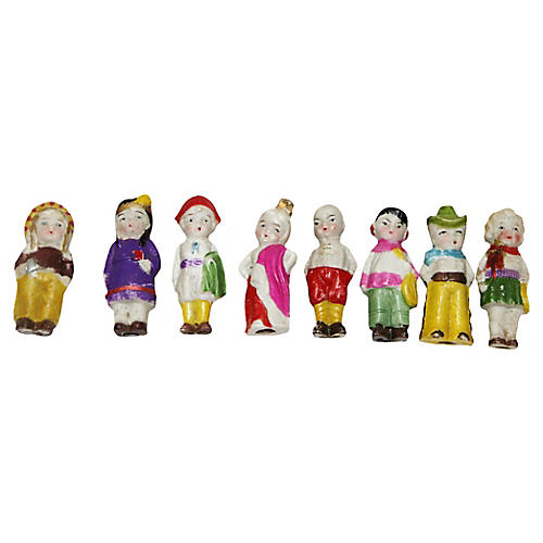 Japanese Bisque Dolls, S/8