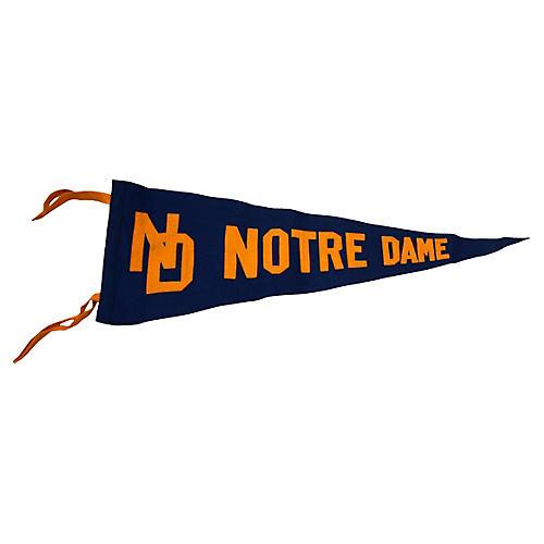 Collegiate Notre Dame Pennant