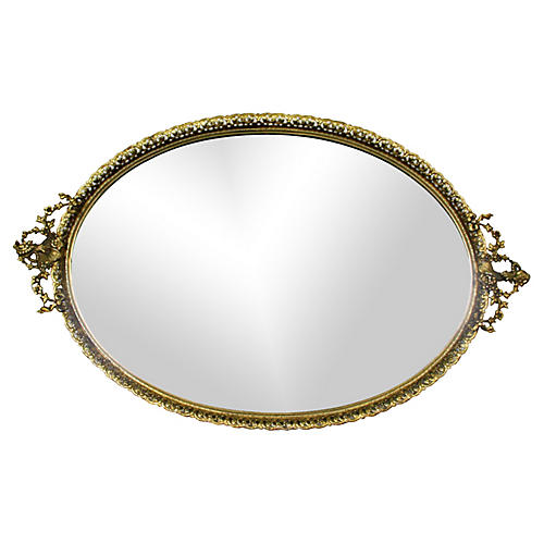 Ornate Mirror Tray
