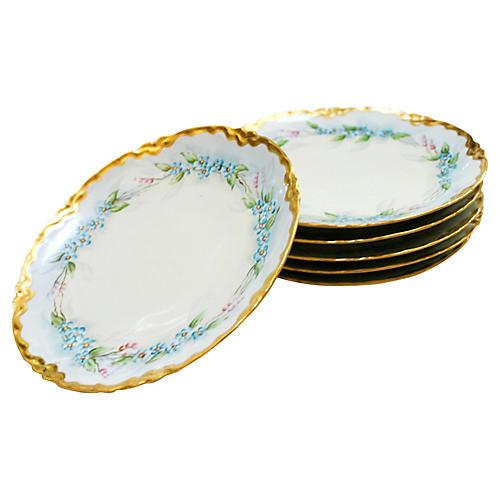 Bavarian Gilded Plates, S/6