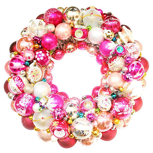 Pink Ornament Wreath