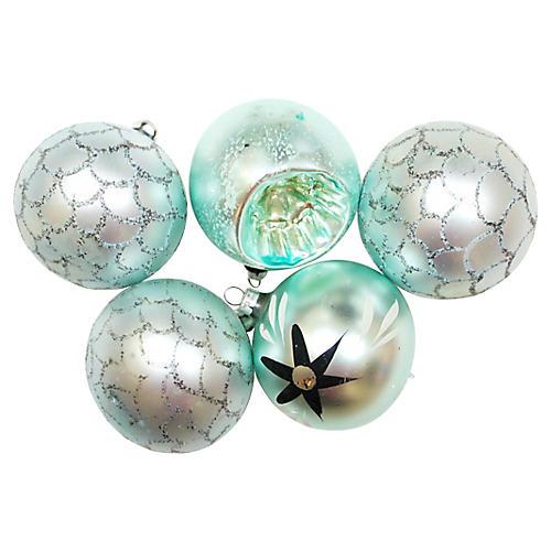 Glass Ornaments, S/5