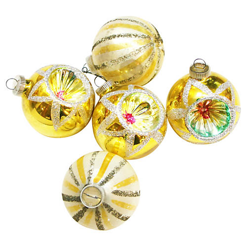 West Germany Ornaments, S/5