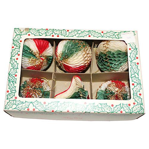 Japanese Honeycomb Ornaments, S/6