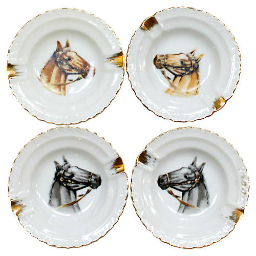 Horse Ashtrays, S/4