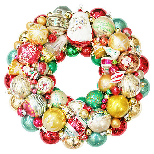 Santa Ornament Wreath