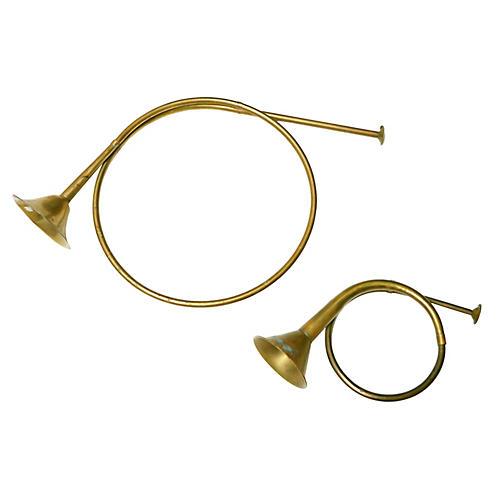 Brass & Copper Horns, S/2