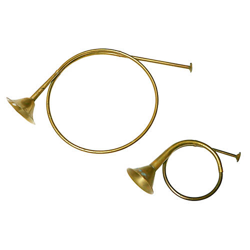 Brass & Copper Horns, S/2