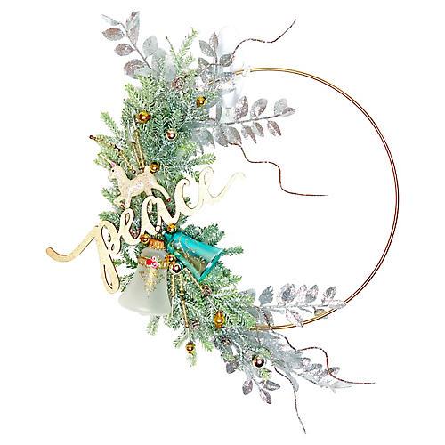 Peace Ornament Wreath
