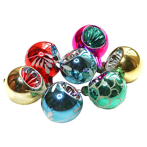 Mini Indent Ornaments, S/7