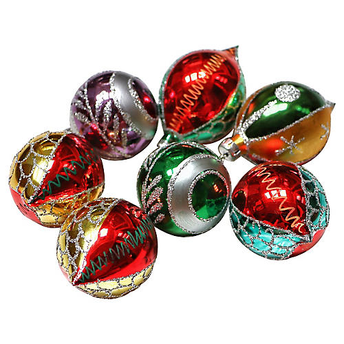 Teardrop Ornaments, S/7