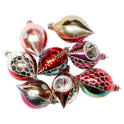 Teardrop Ornaments, S/8