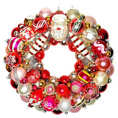 Antique Santa Wreath