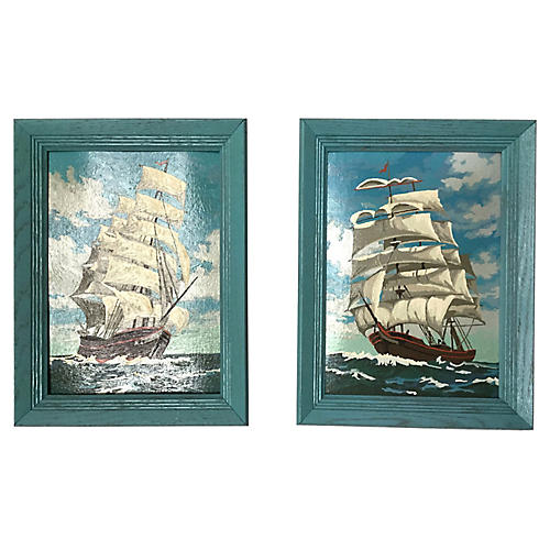 Paint by Number Ship Paintings , S/2