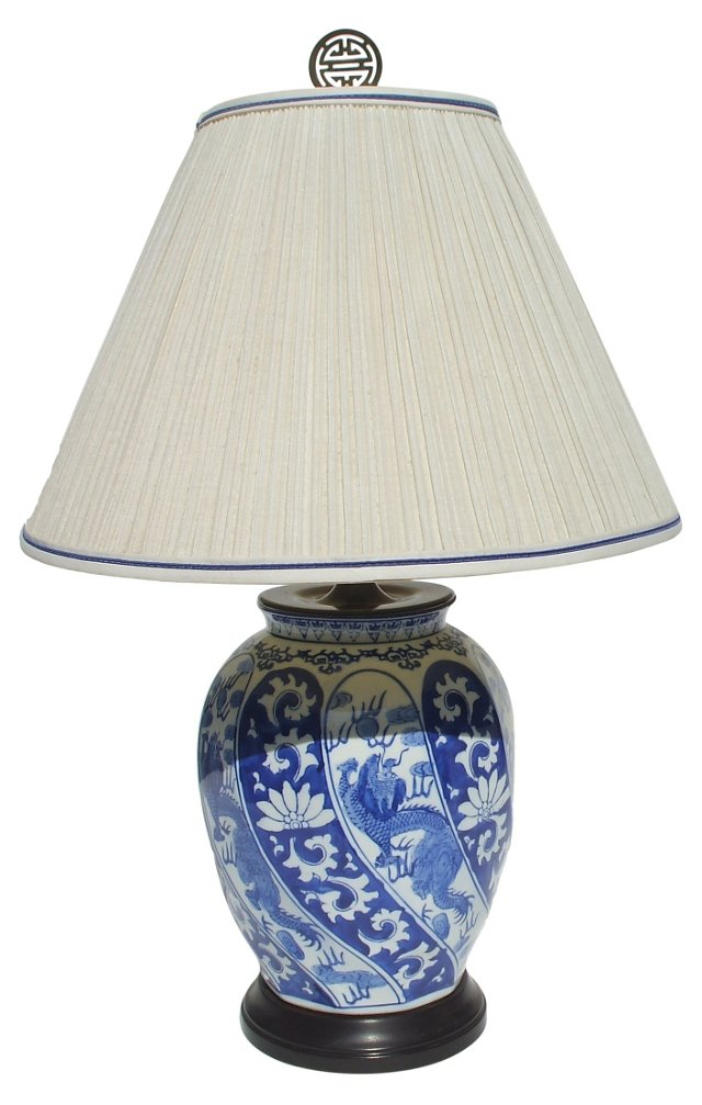 Blue & White Chinese Vase Lamp