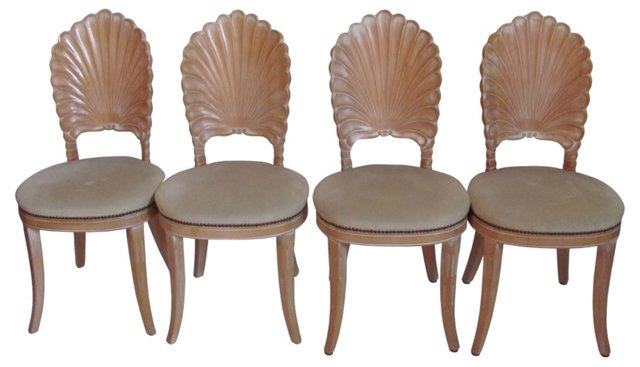 Shell Dining Chairs, Set of 4