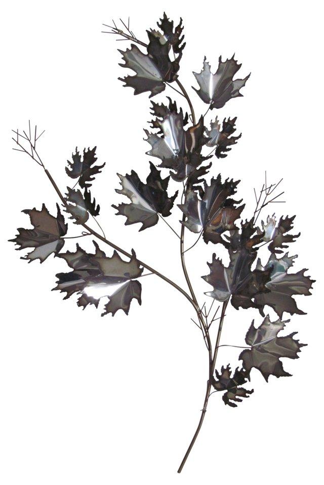 Silver Jeré-Style Maple Leaf Sculpture