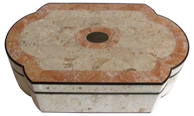 Midcentury Tessellated Stone Box