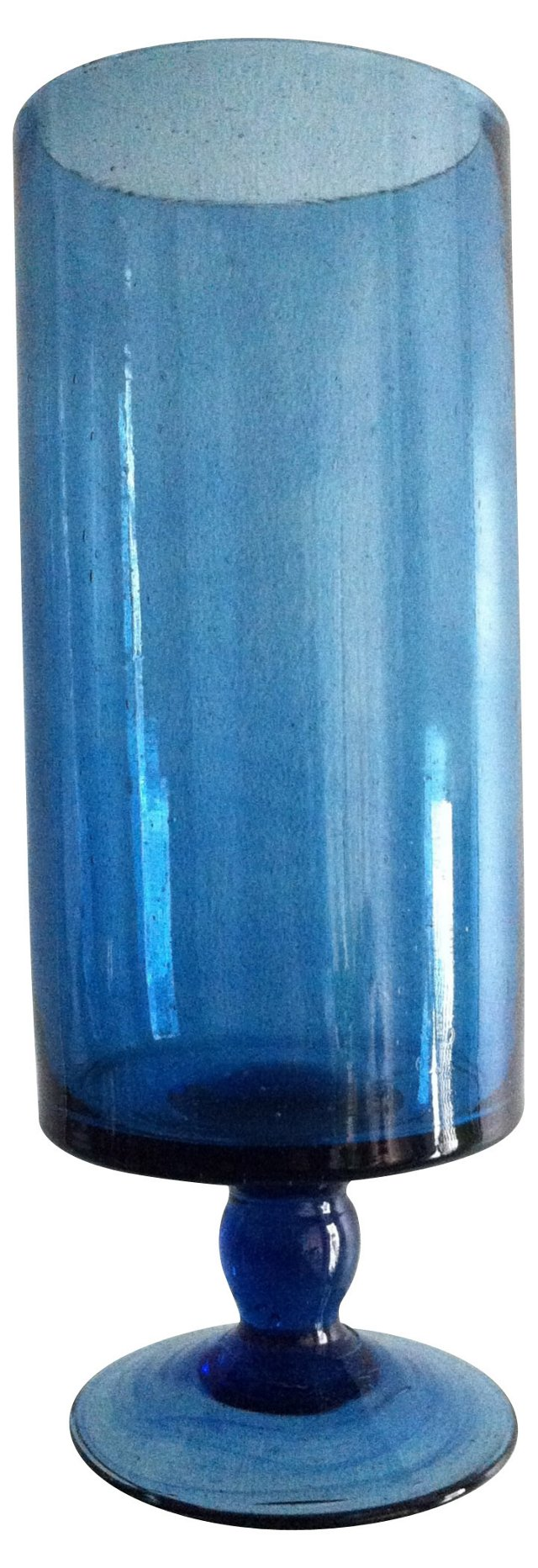 Slate Blue Column Goblet