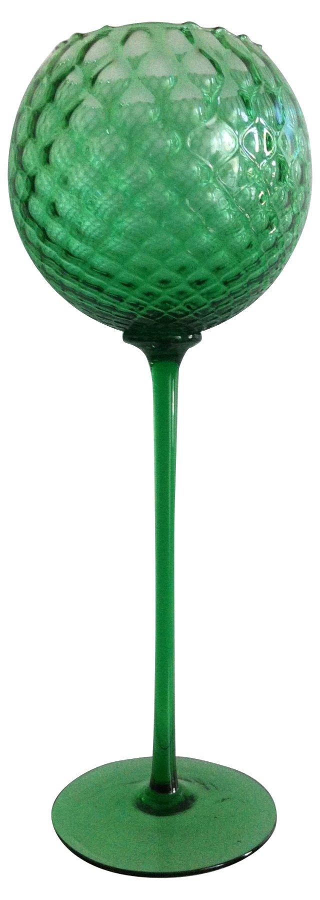 Tall Mint Green Optic Goblet