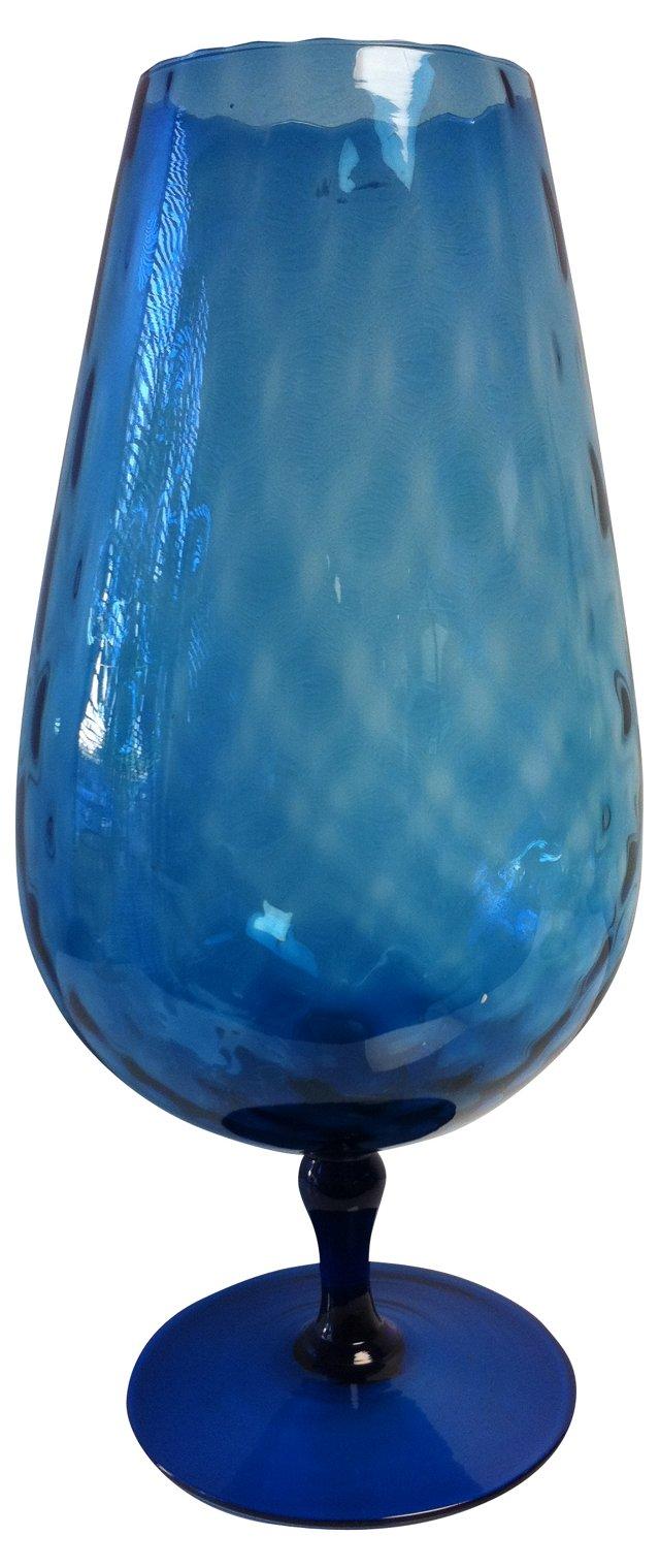 Oversized Slate-Blue Oblong Goblet