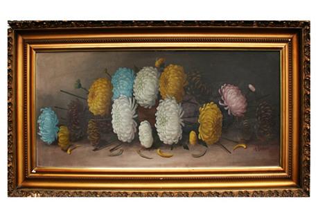 Chrysanthemum Still Life by M. Garland