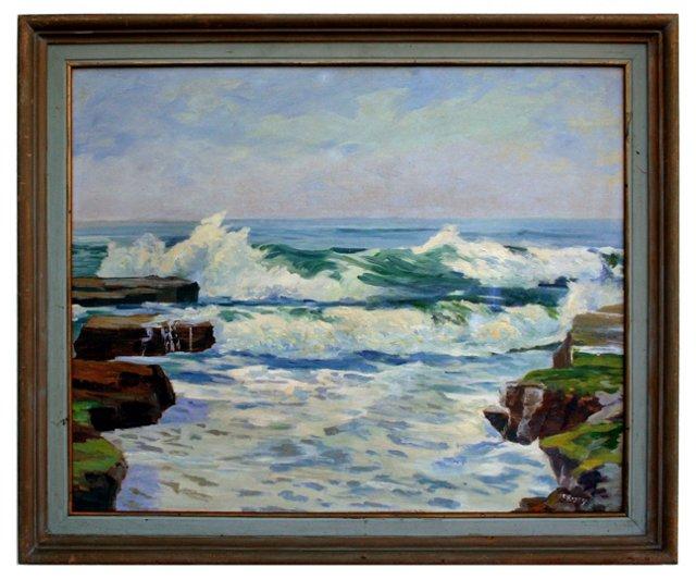 Santa Cruz Surf by Margaret Rogers