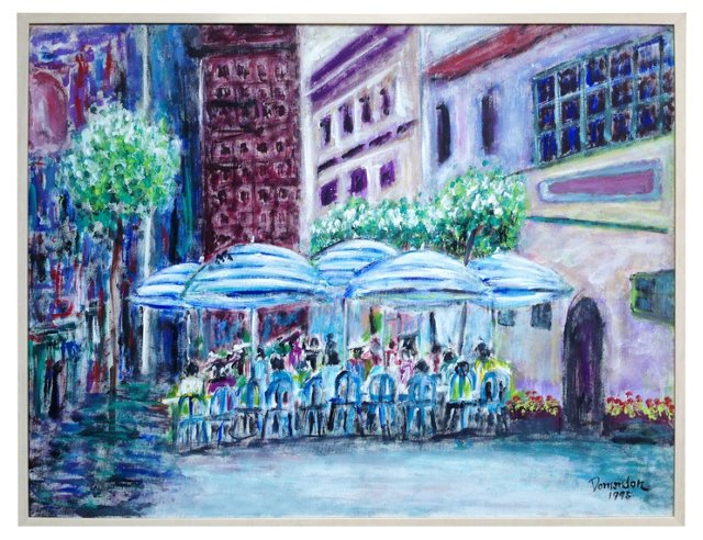 Café Street Scene by Frederico Domondon