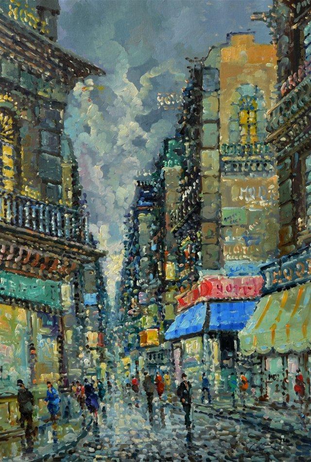 Rue de Paris by N. Rizzo