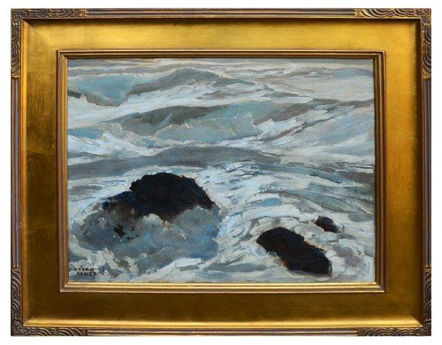 Rocky Shore by Clyde Scott, 1930