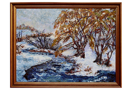Winter Stream by Virginia Cahill