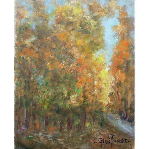 Trees in Fall by Helen Gleiforst
