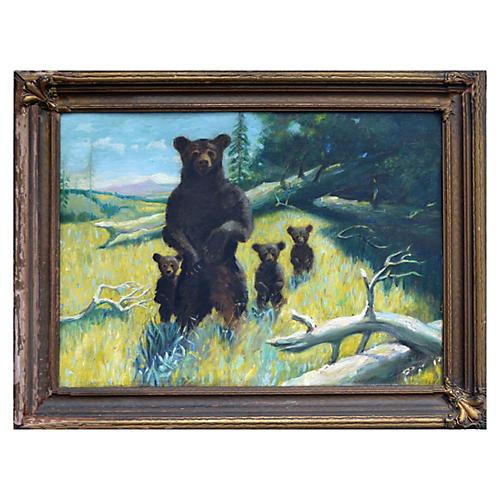 California Brown Bear Family