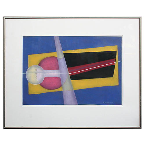 Pastel Abstract by Henry Elinson