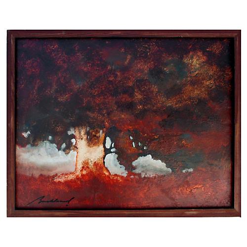Spreading Oak Tree by Robert Buckland