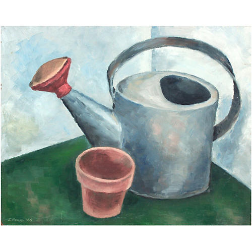 Watering Can & Pot Still Life
