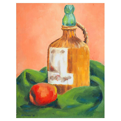 Apple & Jug Still Life by Eleanor Perry