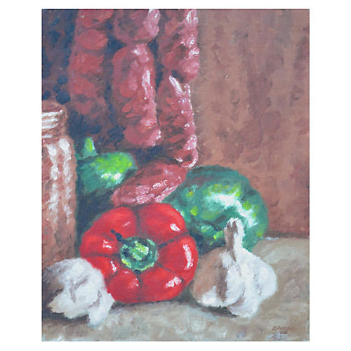 Still Life w/Red Pepper by Eleanor Perry