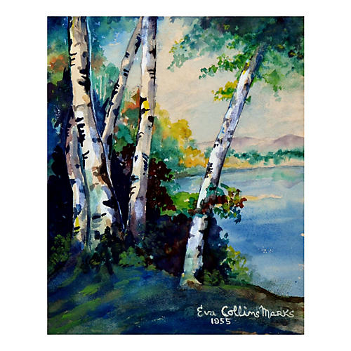 River Birches by Eva Collins Marks