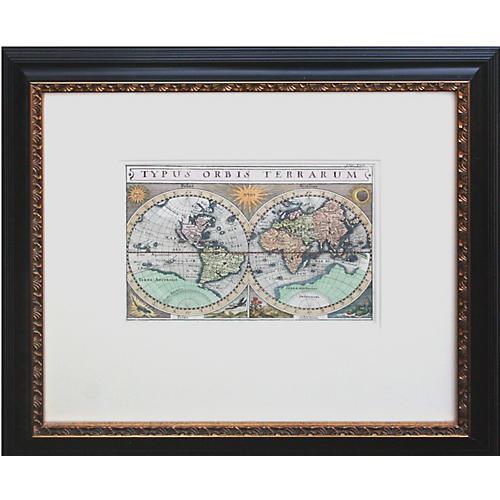 """Antique Map """"Typus Orbis Terrarum"""""""