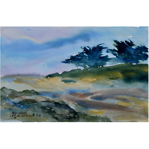 Scenic Watercolor by Les Anderson