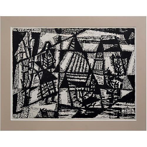 Woodblock Abstract by Antanas Tamosaitis