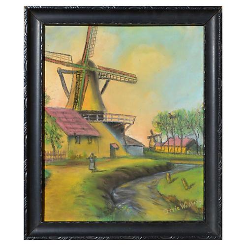 Dutch/Belgian Pastel Landscape