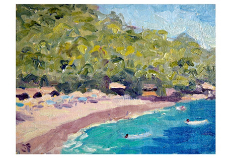 Tropical Beach by John Farley