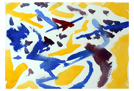 Yellow, Blue and Red Abstract