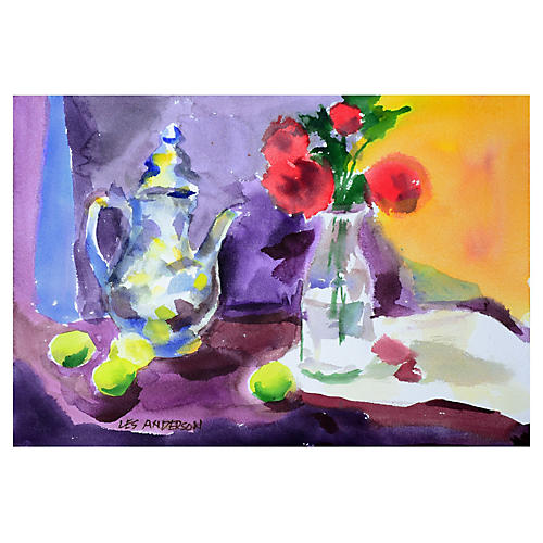 Roses, Limes and Teapot