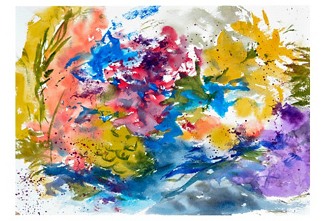 Floral Abstract by Les Anderson