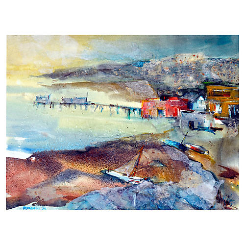 Fishing Village by Frances Morrow