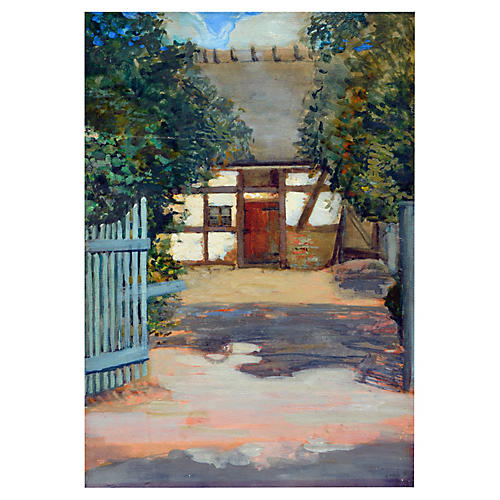 French Garden Scene