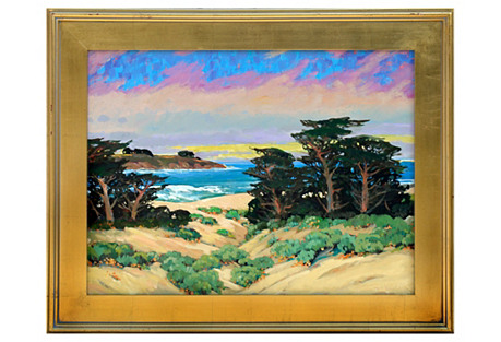 Cypress Trees Seascape